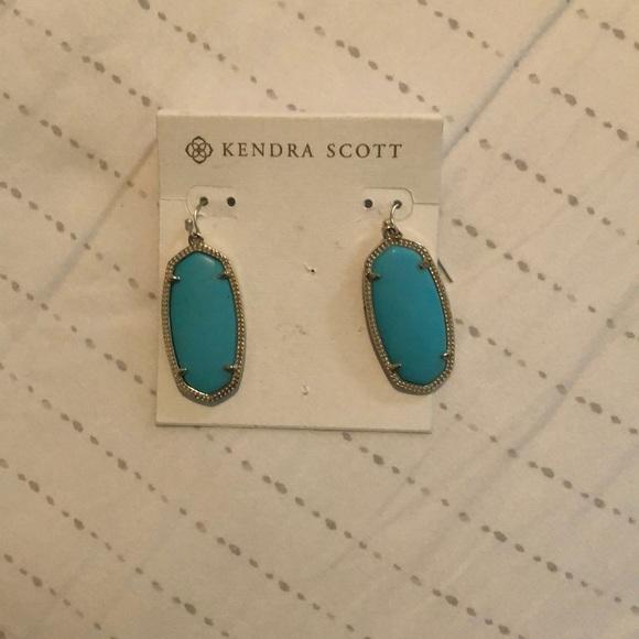 Kendra Scott Jewelry - Kendra Scott Turquoise & Gold Elle Earrings